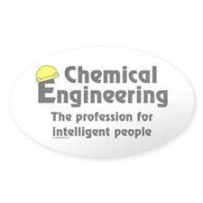Smart Chemical Engineer Oval Decal
