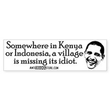 Village Idiot Bumper Sticker (10 pk)