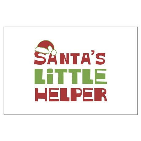 Santa's Little Helper Large Poster