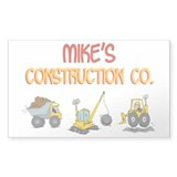Mike's Construction Tractors Rectangle Decal