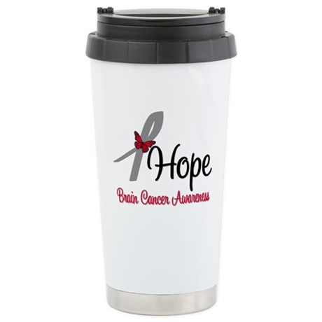 HopeButterfly Brain Cancer Ceramic Travel Mug