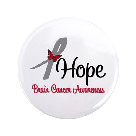 "HopeButterfly Brain Cancer 3.5"" Button"