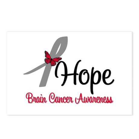 HopeButterfly Brain Cancer Postcards (Package of 8