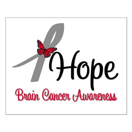 HopeButterfly Brain Cancer Small Poster