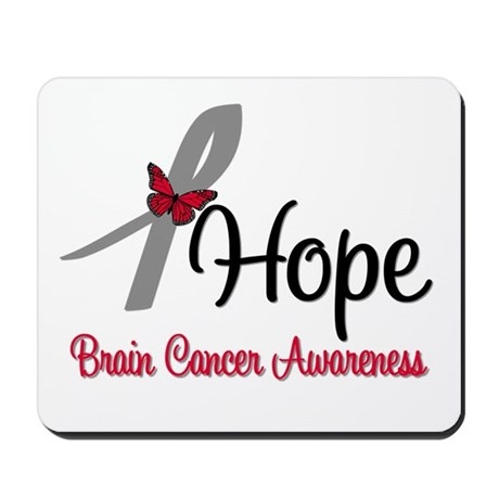 HopeButterfly Brain Cancer Mousepad