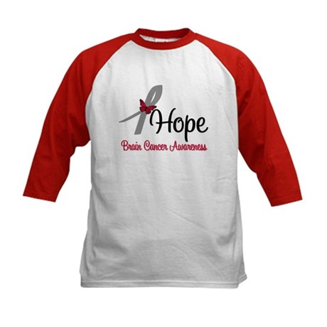 HopeButterfly Brain Cancer Kids Baseball Jersey