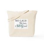 Jane Austen No Lace Tote Bag