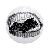 marley's basket Ornament (Round)