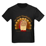 First Thanksgiving (ta) Kids Dark T-Shirt