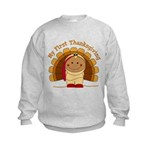 First Thanksgiving (ta) Kids Sweatshirt