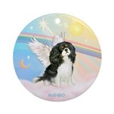 "Clouds / Cavalier ""Mango"" Ornament (Round)"