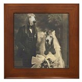 Basset VINTAGE WEDDING Framed Tile