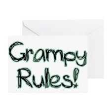 Grampy Rules! Greeting Card