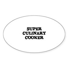 SUPER CULINARY COOKER Oval Decal