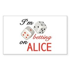 I'm betting on ALICE. Rectangle Decal