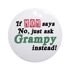 Just Ask Grampy Ornament (Round)