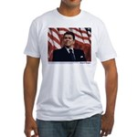 Reagan on Marx and Lenin Fitted T-Shirt