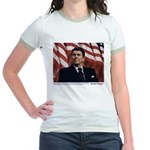 Reagan on Marx and Lenin Jr. Ringer T-Shirt
