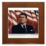 Reagan on Marx and Lenin Framed Tile