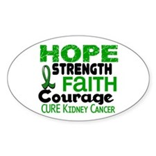 HOPE Kidney Cancer 3 Oval Sticker (10 pk)