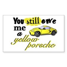 Yellow Porsche Rectangle Decal