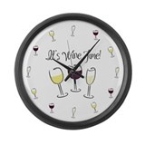 It's Wine Time Large Wall Clock