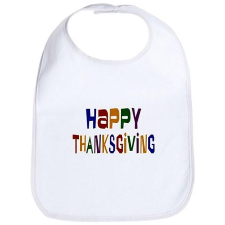 Colorful Happy Thanksgiving Bib