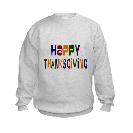 Colorful Happy Thanksgiving Kids Sweatshirt