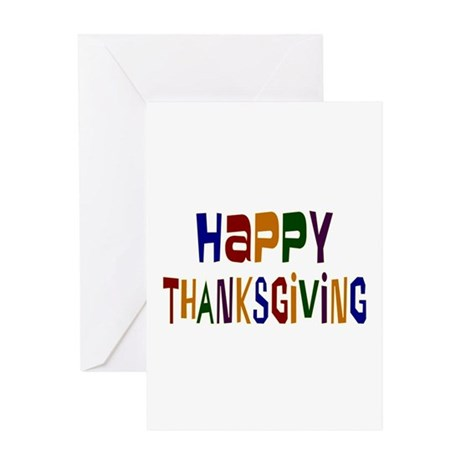Colorful Happy Thanksgiving Greeting Card