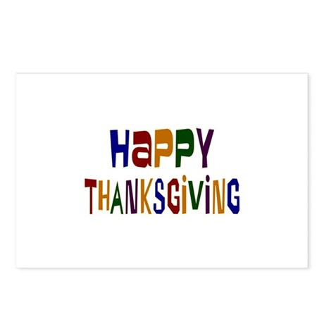 Colorful Happy Thanksgiving Postcards (Package of