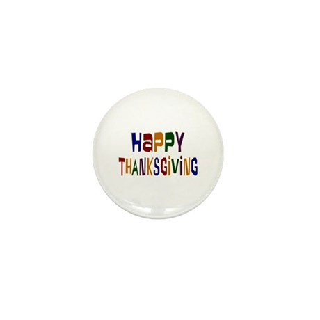 Colorful Happy Thanksgiving Mini Button (10 pack)