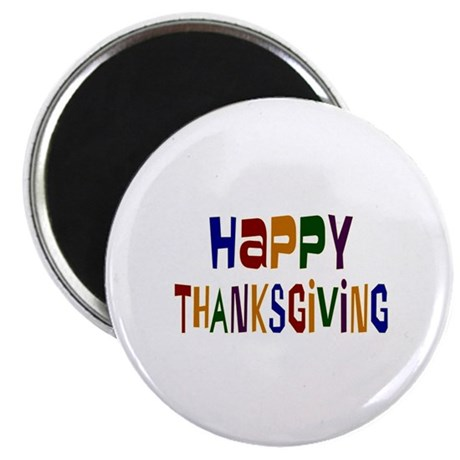 "Colorful Happy Thanksgiving 2.25"" Magnet (100 pack"