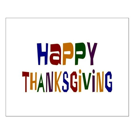 Colorful Happy Thanksgiving Small Poster