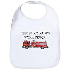 Mom's Fire Truck Bib