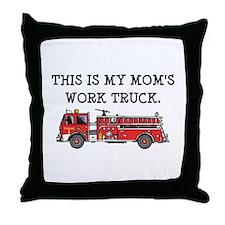 Mom's Fire Truck Throw Pillow