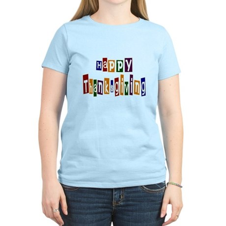 Fun Happy Thanksgiving Women's Light T-Shirt