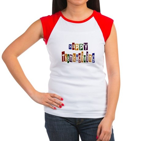 Fun Happy Thanksgiving Women's Cap Sleeve T-Shirt