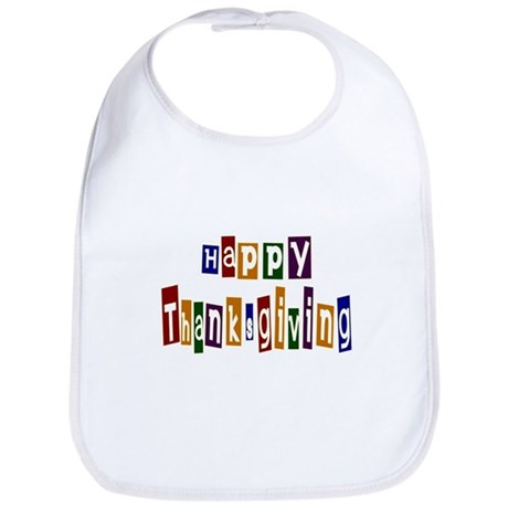Fun Happy Thanksgiving Bib