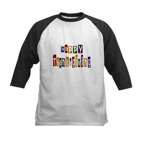 Fun Happy Thanksgiving Kids Baseball Jersey