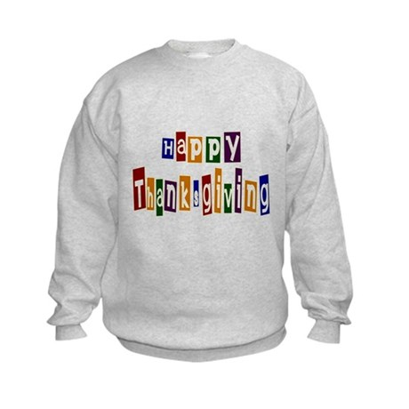 Fun Happy Thanksgiving Kids Sweatshirt