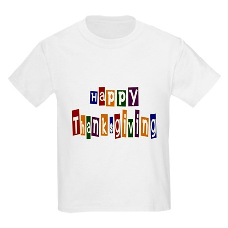 Fun Happy Thanksgiving Kids Light T-Shirt