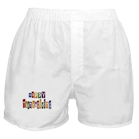 Fun Happy Thanksgiving Boxer Shorts