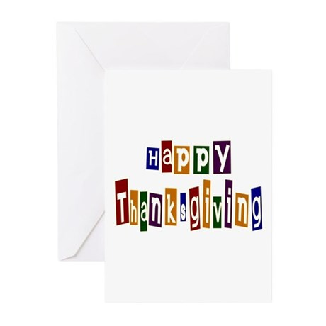 Fun Happy Thanksgiving Greeting Cards (Pk of 10)
