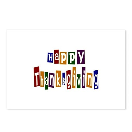Fun Happy Thanksgiving Postcards (Package of 8)