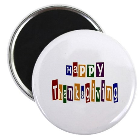 "Fun Happy Thanksgiving 2.25"" Magnet (100 pack)"