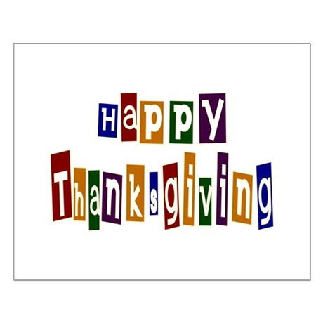 Fun Happy Thanksgiving Small Poster
