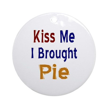 Funny Thanksgiving Pie Ornament (Round)