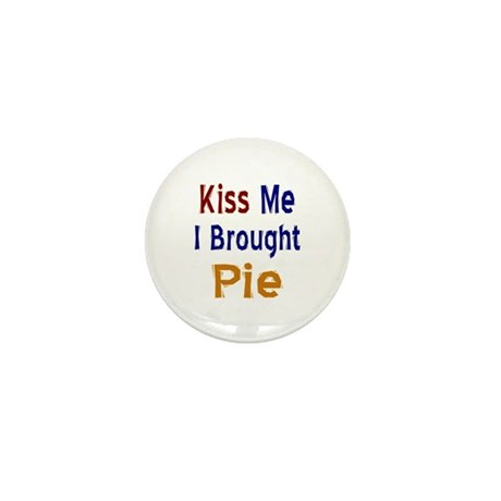Funny Thanksgiving Pie Mini Button