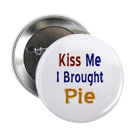 "Funny Thanksgiving Pie 2.25"" Button"