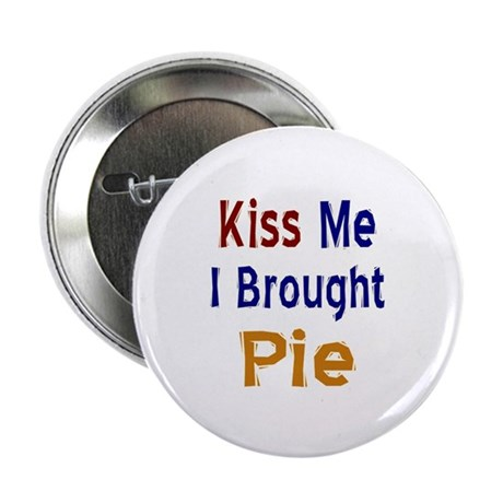 "Funny Thanksgiving Pie 2.25"" Button (10 pack)"